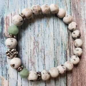 Matte Natural Stone 8mm Stretch Bracelet